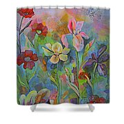 Garden Of Intention - Triptych Center Panel Shower Curtain