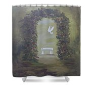 Garden Of Peace Shower Curtain