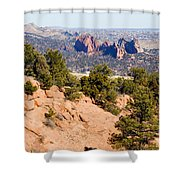 Garden Of The Gods And Springs West Side Shower Curtain