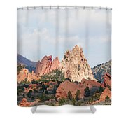 Garden Of The Gods From A Distance Shower Curtain