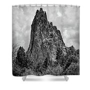Garden Of The Gods Monotone Shower Curtain