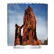 Garden Of The Gods Tower Formation Shower Curtain