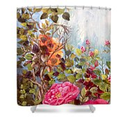 Garden Party/left Portion Shower Curtain