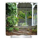 Garden Path And Gazebo Shower Curtain