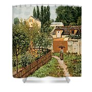 Garden Path In Louveciennes Shower Curtain