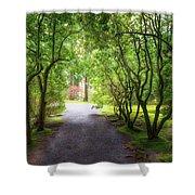 Garden Path In Spring Shower Curtain