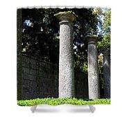 Garden Pillars Shower Curtain