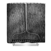 Garden Rake Down Shower Curtain
