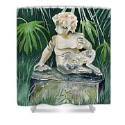 Garden Satyr Shower Curtain