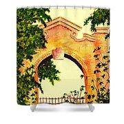 Garden Scene Shower Curtain
