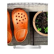Garden Shoes Shower Curtain