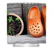 Garden Shoes Waiting Shower Curtain