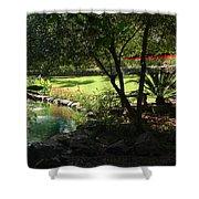 Garden Silouhette Shower Curtain
