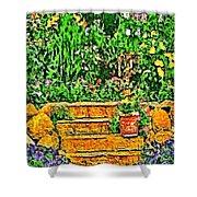 Garden Sketches 1 Shower Curtain