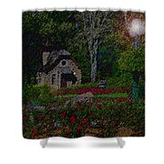 Garden Sleeping Shower Curtain