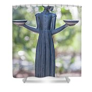 Garden Statue Dreams Shower Curtain