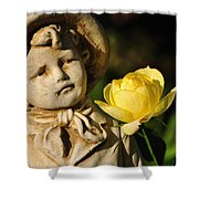 Garden Statue Shower Curtain by Kaye Menner