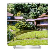 Garden Tea Houses Shower Curtain