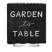 Garden To Table- Art By Linda Woods Shower Curtain by Linda Woods