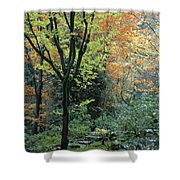 Garden Trees Shower Curtain