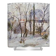 Garden Under Snow Shower Curtain