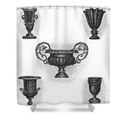 Garden Urns Shower Curtain