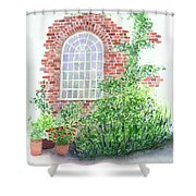 Garden Wall Shower Curtain