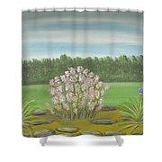 Garden Wedding Shower Curtain