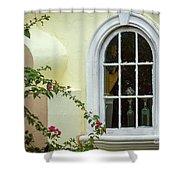 Garden Window Shower Curtain by Todd Blanchard