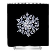 Gardener's Dream, White On Black Version Shower Curtain