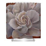Gardenia  Bloom Shower Curtain