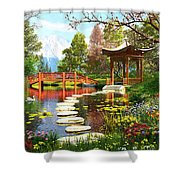 Gardens Of Fuji Shower Curtain