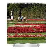 Gardens Of The Schloss  Schonbrunn  Vienna Austria Shower Curtain