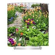 Gardens Of Tulips Shower Curtain
