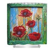 Gardens Poppy Shower Curtain