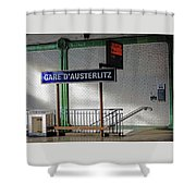 Gare D'austerlitz In Paris, France Shower Curtain
