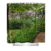 Garfield Park Conservatory Pond And Path Chicago Shower Curtain