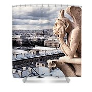 Gargoyle Of Notre Dame Shower Curtain