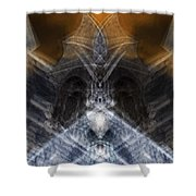 Gargoyle Priestess  Shower Curtain