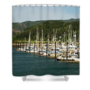 Garibaldi Oregon Marina Shower Curtain