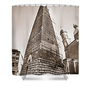 Garisenda Tower In Bologna Shower Curtain