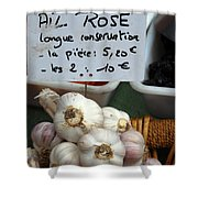 Garlic And Dried Apricots For Sale Shower Curtain