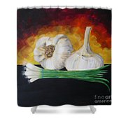 Garlic And Onion Shower Curtain