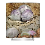 Garlic In The Basket Shower Curtain