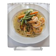 Garlic Prawns Shower Curtain