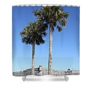 Garrita And Palms At The Fort Shower Curtain