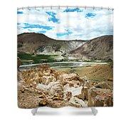 Garuda Valley Tibet Yantra.lv Shower Curtain