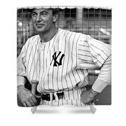 Gary Cooper As Lou Gehrig In Pride Of The Yankees 1942 Shower Curtain