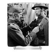 Gary Cooper Getting A Medal Of Honor As Sergeant York 1941 Shower Curtain