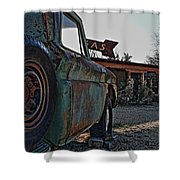 Gas And Truck Shower Curtain